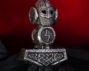 Silver Handmade 0.85oz 24g THORS HAMMER Pendant THOR Necklace Viking Mjolnir New