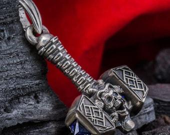 "THOR'S HAMMER ""Viking"" pendant necklace MJOLNIR norse mythology sterling silver god viking handmade Thors hammer"