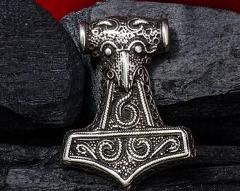 THORS HAMMER silver Pendant THOR Necklace Viking Mjolnir Norse s Odin Walhalla