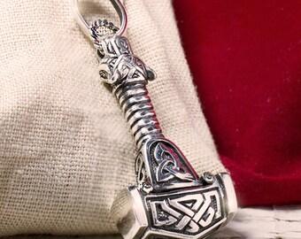 THORS HAMMER 1.41 oz 41 gr Thor hammer Necklace thors hammer pendant Viking MJOLNIR New