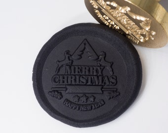 Merry Christmas Tree Wax Seal Stamp -  X'mas Gift