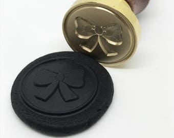 Ribbon Love bow Wax Seal Stamp (STP000025LOV006001)