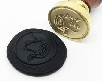 Unicorn Wax Seal Stamp -legendary Creature (STP000025ANM005001)