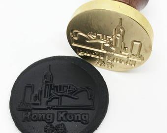 Hong Kong Wax Seal Stamp - Landscape Tourism Travel (STP000030LAN001001)