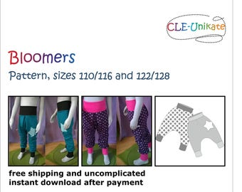 Bloomers, sizes 110/116 and 122/128