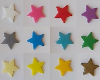 KAM Snaps, Stars, T5, glossy, 24 pieces
