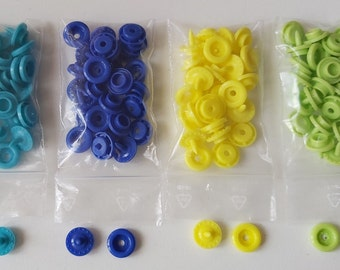Pockets Snap, 15 pieces, available in 15 colors