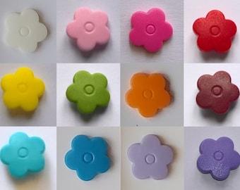 KAM Snaps, Flowers, T5, matte, 10 pieces