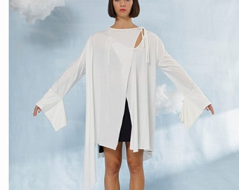 Parrot - cardigan with Japanese sleeves