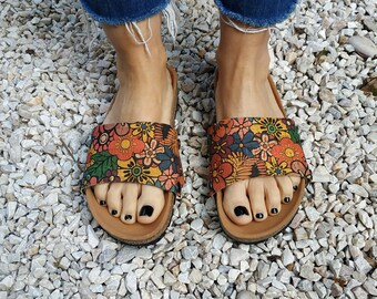 Hippy summer-Attn:these are not sandals,they are accessories for the 'Ethical Magic Sliders' vegan sandals (read also item's description)