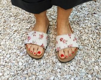 Couple Slipper Math Handwrting Print Flip Flops Unisex Chic Sandals Rubber Non-Slip Beach Thong Slippers