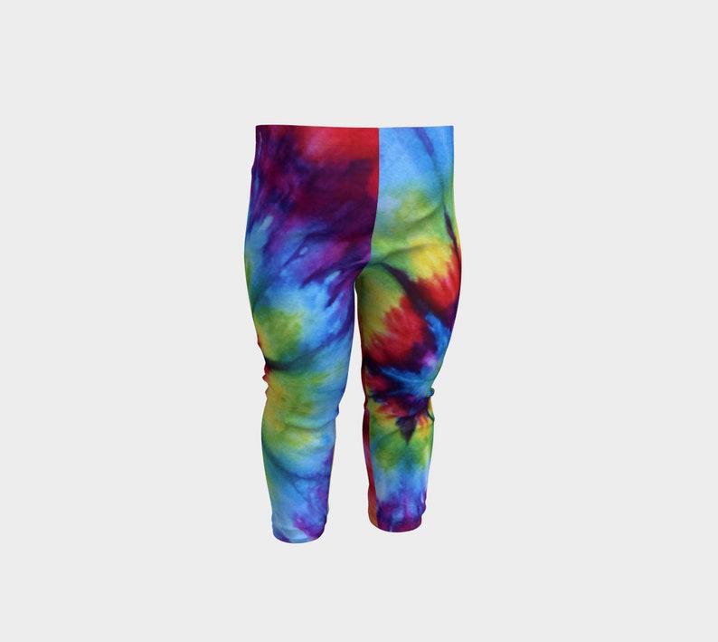 807d73d3ffcda Tie Dye Leggings Baby Youth Kids Toddler Girls Rainbow 6M   Etsy