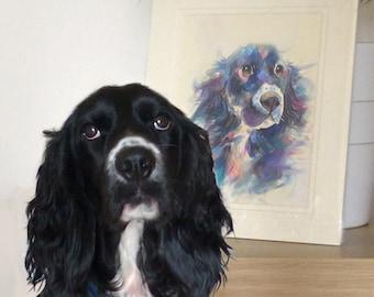Medium Bespoke Original Watercolour & Mixed Media Portrait Painting - by Sketchbuck | A3 custom | (dog, cat, horse, rat, small animal)