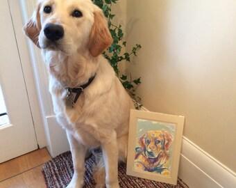 Small Bespoke Original Watercolour & Mixed Media Portrait Painting - by Sketchbuck | A4 custom | (dog, cat, horse, rat, small animal)