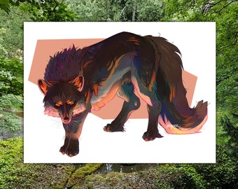 Custom Digital Feral Character or Creature Illustration - by Sketchbuck | DIGITAL FILE ONLY | (furry, anthro, fursuit, fursona, persona)