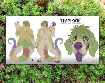 Custom Digital Character Anthro Reference Sheet - by Sketchbuck | DIGITAL FILE ONLY | (furry, fursuit, fursona, persona, concept art)