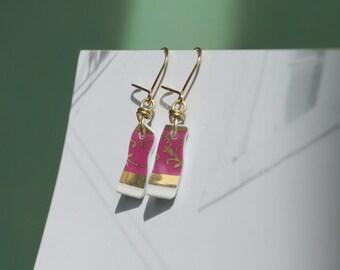 Emilia - porcelain earrings