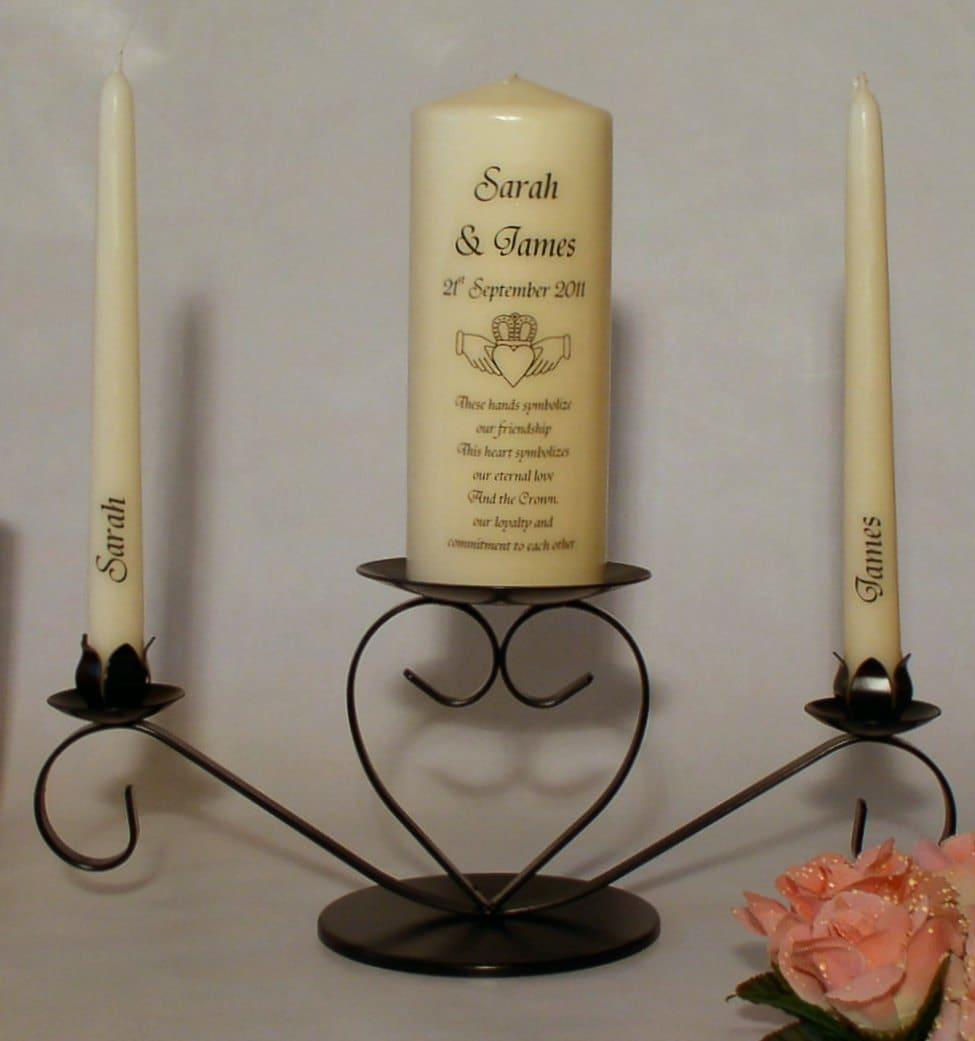 Personalised Claddagh Unity Candle Set For Weddings Etsy