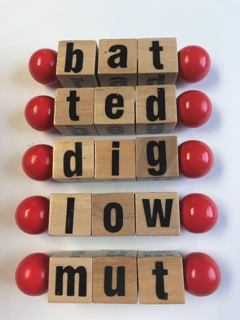 Montessori Type Phonetic Reading Blocks | Etsy