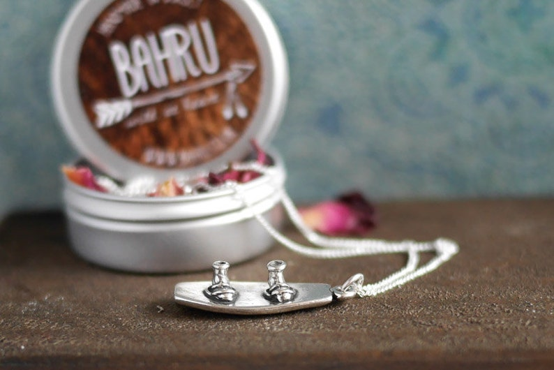 Sterling Silver Wakeboard Necklace