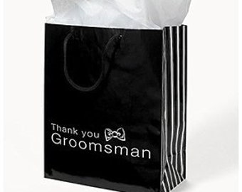6/ Groomsmen Gift Bags/ Favor bags/ Thank you bags/ Wedding Bags