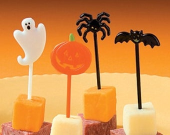 Halloween party food picks /  Halloween party  / Monster party theme / cupcake picks