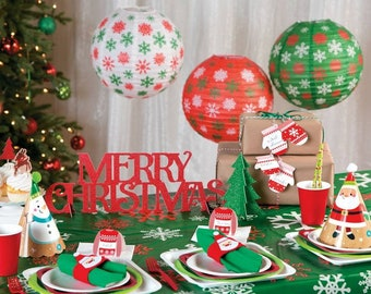christmas party lanterns christmas party family celebration christmas christmas party decorations - Christmas Party Decorations