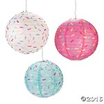 Sprinkle Party Lanterns/ Party Hanging decorations/ sprinkles/Colorful party/Girl Party/donut party lanterns/ donut party/ sprinkle lanterns