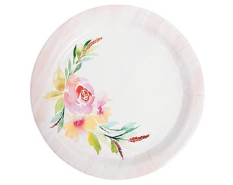 my sweet floral vintage collection dinner plates wedding plates bridal shower plates floral plates pastel plates