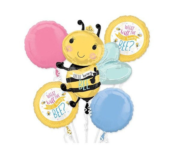 Bumble Bee Balloon Bouquet Bumble Bee Partybumble Bee Theme Etsy