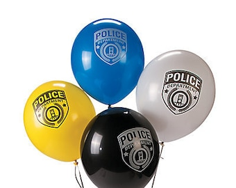 12/ law enforcement Party Balloons / police party theme / police balloons