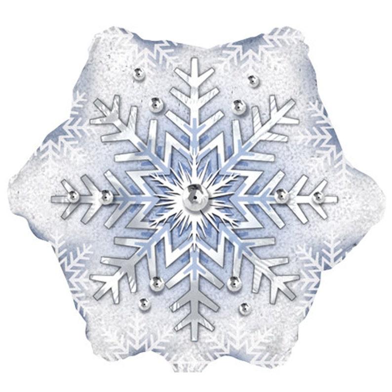 1 Frozen Snowflake Party Balloon 18 Frozen Party Theme Etsy