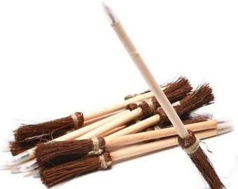 12/ Witch's broom pens / Harry Potter theme party / wizard party theme / party favors / witch's broom favors/