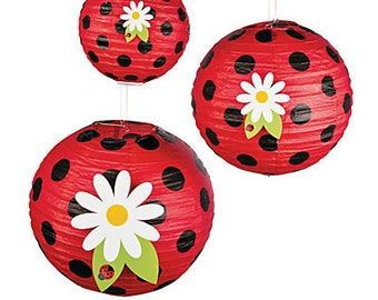 Beautiful Ladybug lantern / Party paper decorations/Hanging decorations