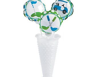 Golf Self-Inflating Hole-In-One Mylar Balloons