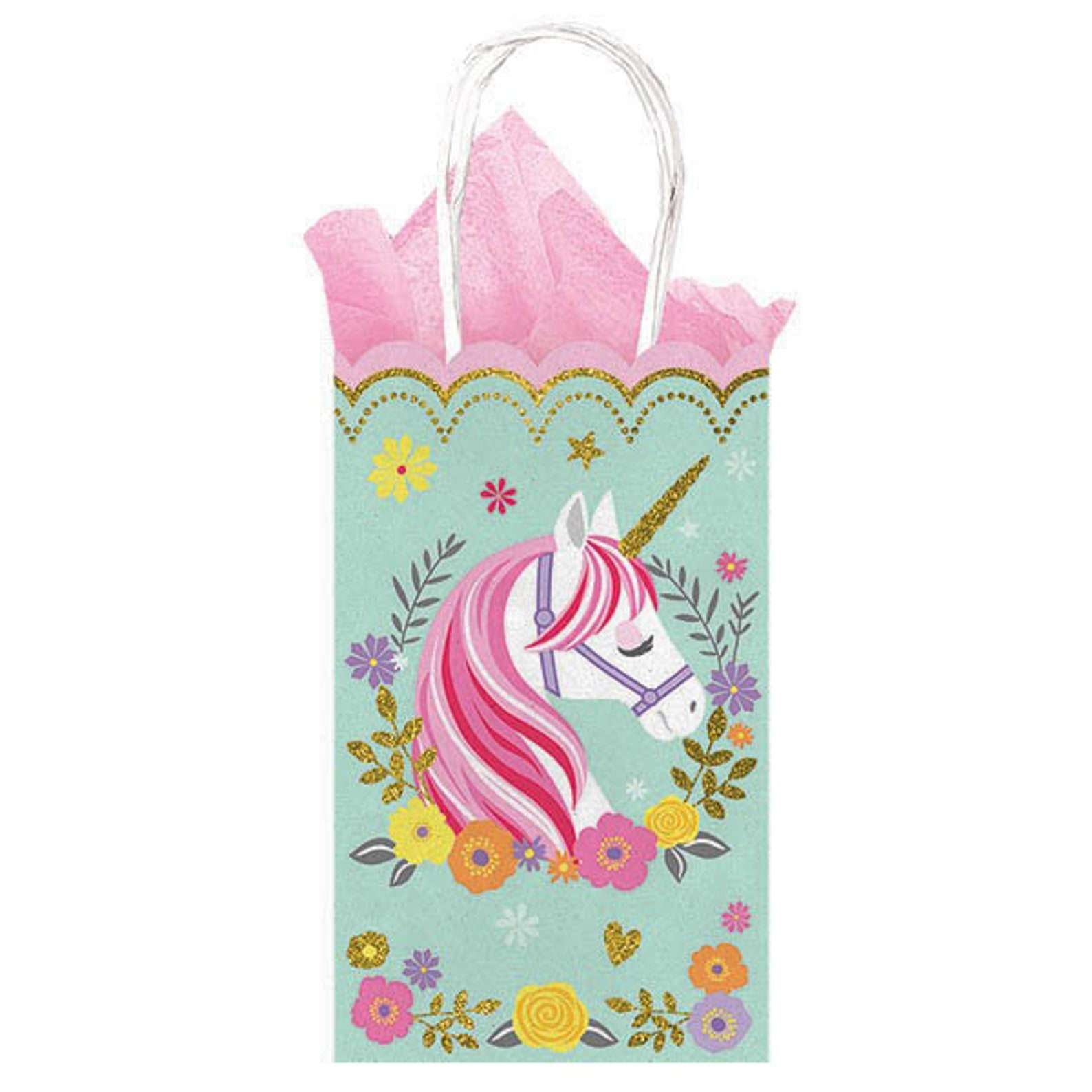 Unicorn Party Favor Bags for 10 Guests Page Two