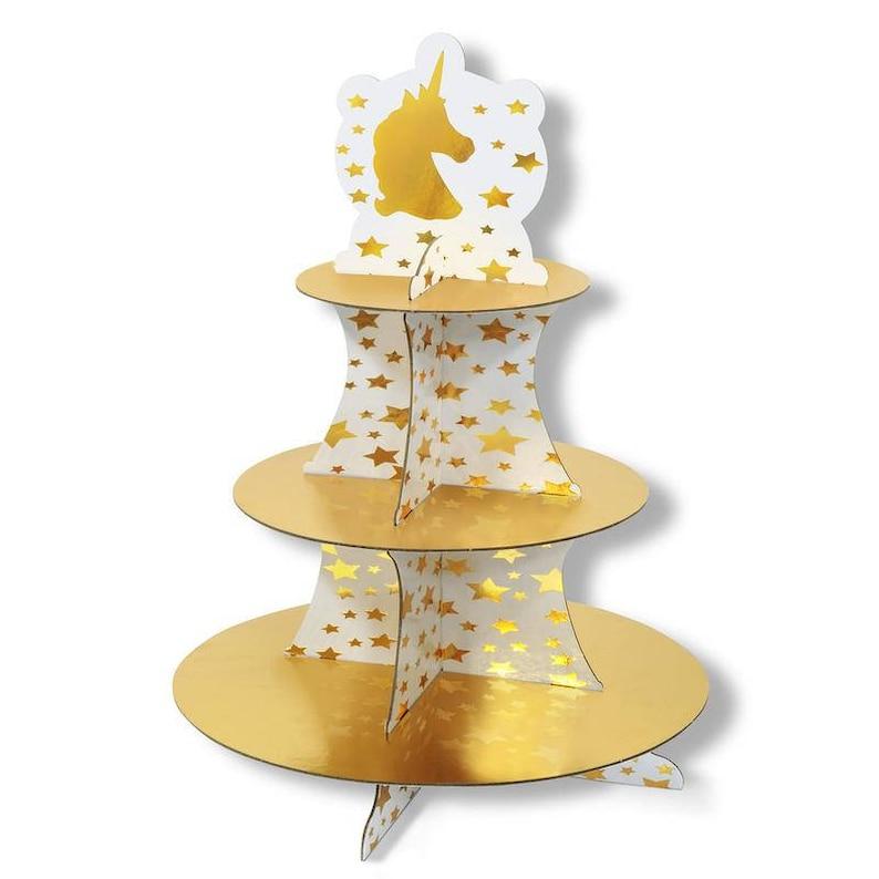 Unicorn Centerpiece  unicorn Party theme  Unicorn   Unicorn Party treat stand unicorn cupcake stand  unicorn cupcake holder