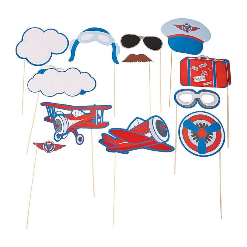 Plane Photo Props  Plane Theme  Up and away Theme Boy/'s Party Theme airplane party airplane props