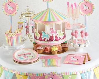 My Sweet Carousel Baby Shower Banner / Carousel party/ Carousel Theme/ Carousel / carousel banner