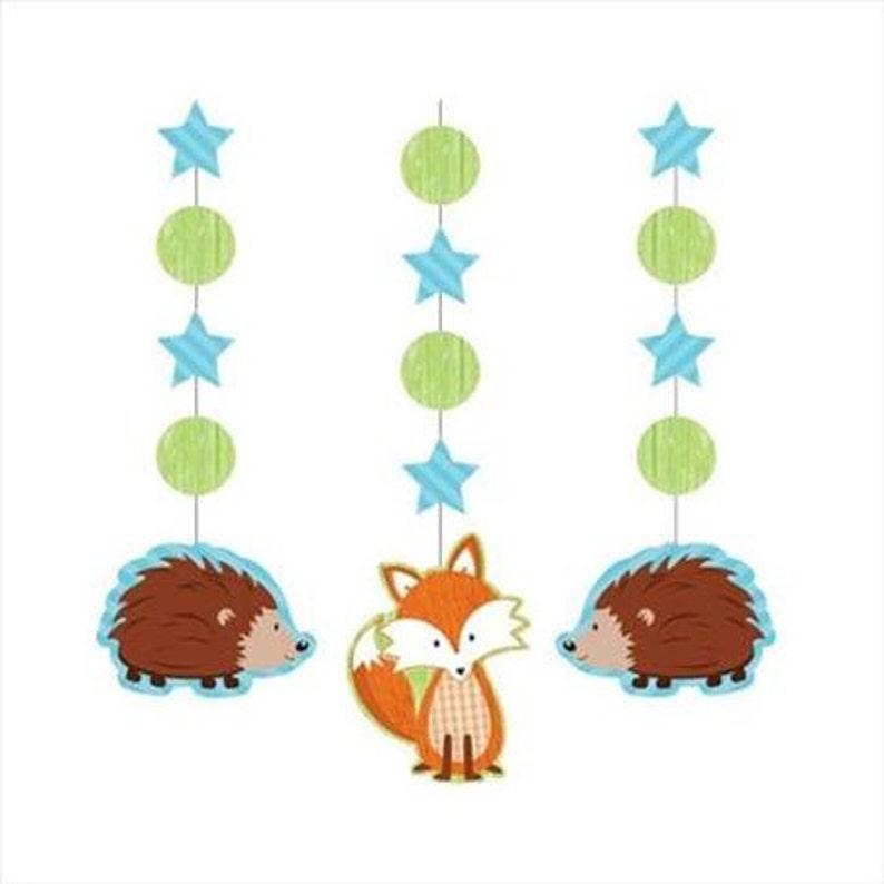 Fox Party Hanging Decorations   Boy/'s Fox Theme  Fox Theme  woodland