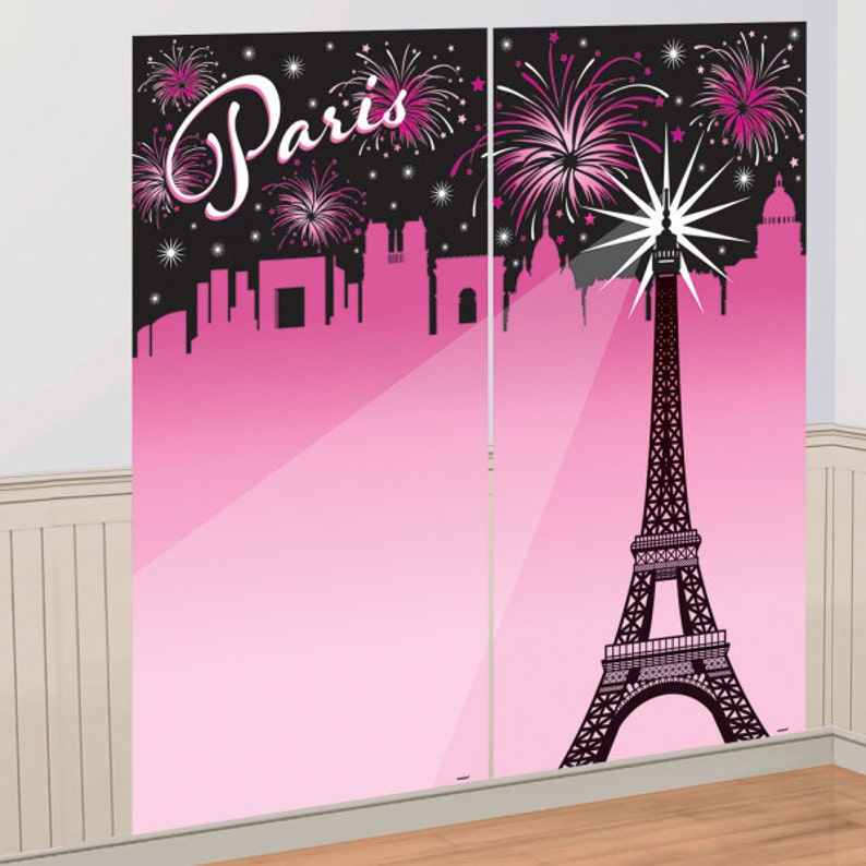Superb Eiffel Tower Backdrop Banner Backdrop Paris Theme Etsy