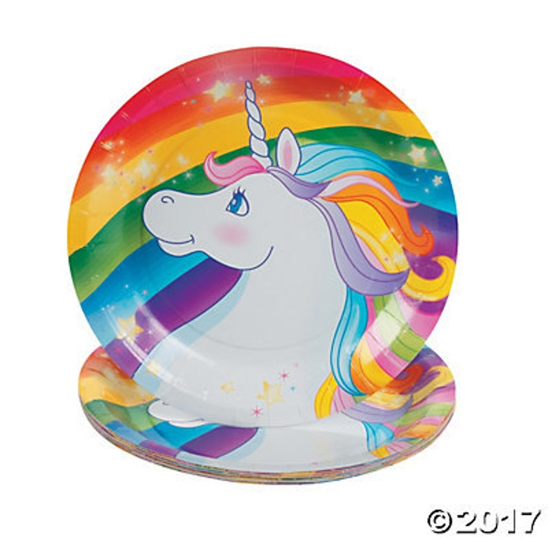My Magical Unicorn Dessert plates  unicorn Party theme  Unicorn   Unicorn Party party platesunicorn plates