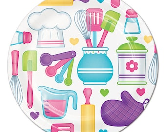 My Sweet Baker Party  Dessert Plates / Baking party / Chef party/ Chef / Baking / Little Chef party / Little Chef