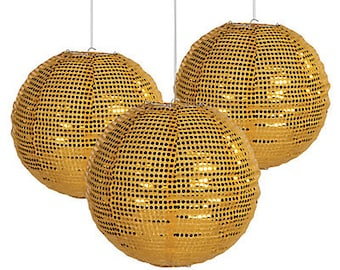 The Elegant Golden Lantern / Party paper decorations/Hanging decorations