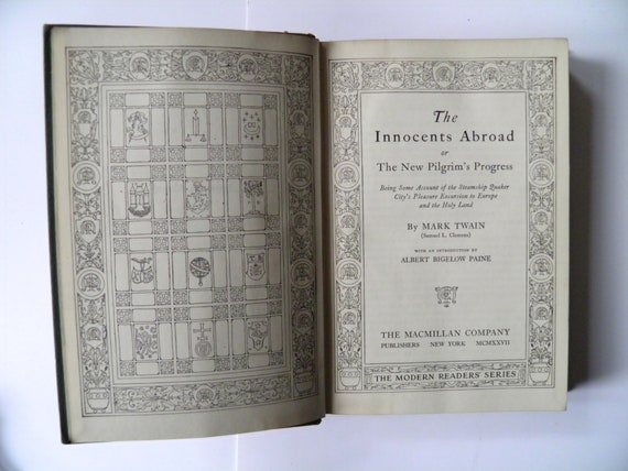 The Innocents Abroad By Mark Twain 1927 Etsy