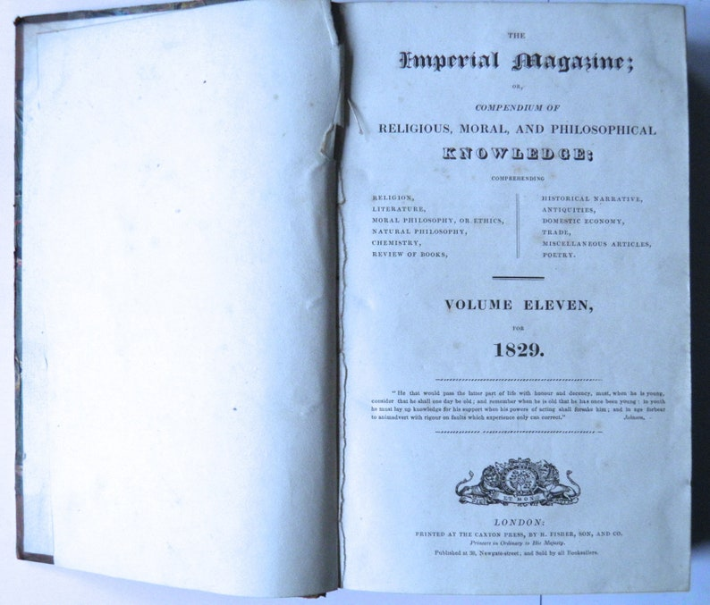 The Imperial Magazine religious, moral, and philosophical knowledge 1829