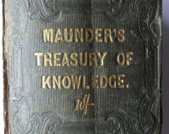 The Treasury of Knowledge by Samuel Maunders 1851
