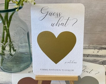 SET OF 25 or more Scratch-Off Save The Date Cards with Metallic Envelopes