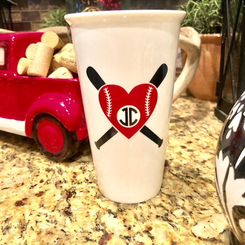Softball/ Baseball Heart Monogram with Bats, Softball Monogram, Baseball  Monogram, Heart Softball, Softball Decals, Baseball Decals, Decals