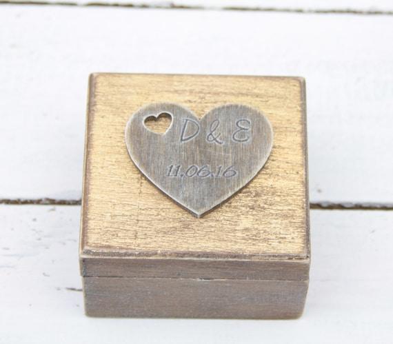 Ring Bearer Box Wedding Ring Box Personalised Wedding Ring Box